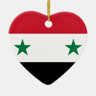 Flag_of_Syria. Ceramic Heart Ornament