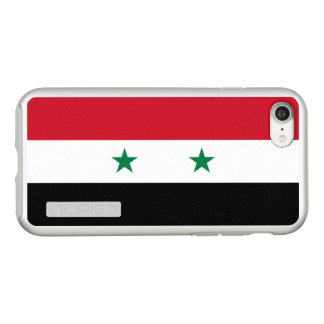 Flag of Syria Silver iPhone Case