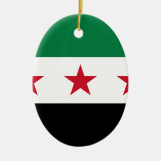 Flag of Syria - Syrian Independence flag Ceramic Oval Ornament