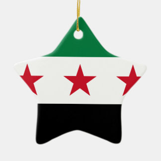 Flag of Syria - Syrian Independence flag Ceramic Star Ornament
