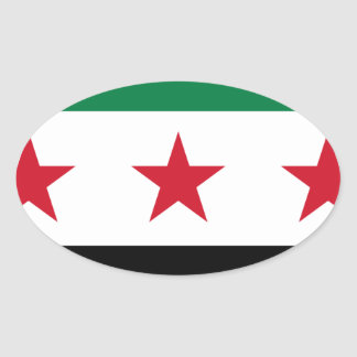 Flag of Syria - Syrian Independence flag Oval Sticker