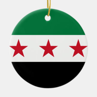 Flag of Syria - Syrian Independence flag Round Ceramic Ornament
