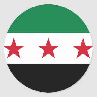 Flag of Syria - Syrian Independence flag Round Sticker