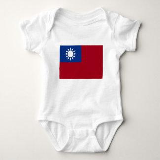 Flag of Taiwan Republic of China Baby Bodysuit