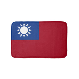 Flag of Taiwan Republic of China Bath Mat