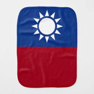 Flag of Taiwan Republic of China Burp Cloth
