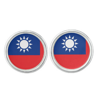 Flag of Taiwan Republic of China Cuff Links