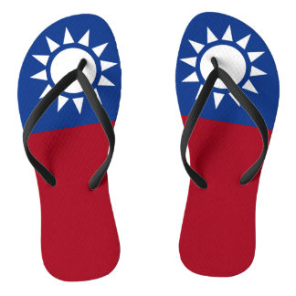 Flag of Taiwan Republic of China Flip Flops