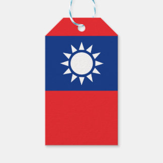 Flag of Taiwan Republic of China Gift Tags