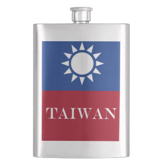 Flag of Taiwan Republic of China Hip Flask