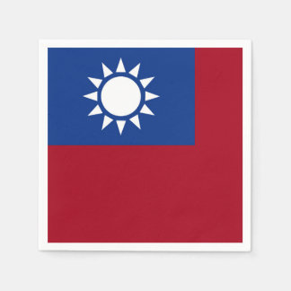 Flag of Taiwan Republic of China Paper Napkins