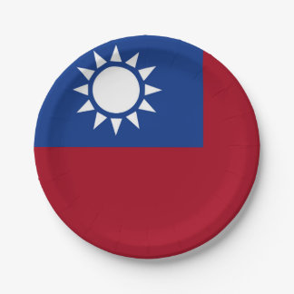 Flag of Taiwan Republic of China Paper Plate