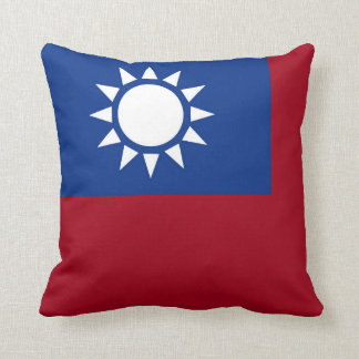 Flag of Taiwan Republic of China Throw Pillow