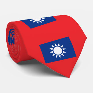 Flag of Taiwan Republic of China Tie
