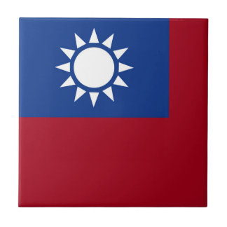 Flag of Taiwan Republic of China Tile