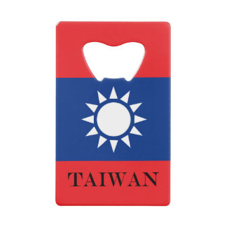 Flag of Taiwan Republic of China Wallet Bottle Opener