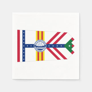 Flag of Tampa, Florida Paper Napkin