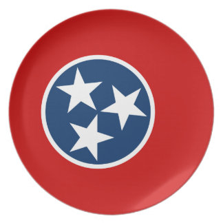 Flag Of Tennessee Plate