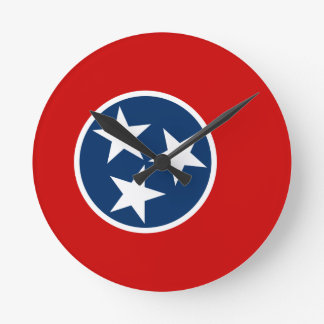 Flag Of Tennessee Round Clock