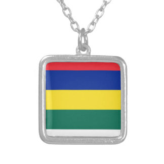 Flag of Terschelling Silver Plated Necklace