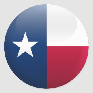 Flag of Texas Classic Round Sticker