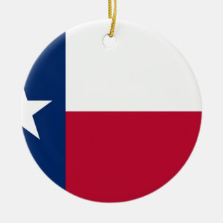 Flag of Texas Round Ceramic Ornament