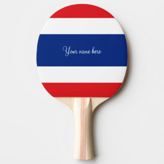 Flag of Thailand Ping Pong Paddle