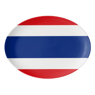 Flag of Thailand Porcelain Serving Platter