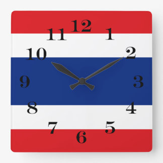 Flag of Thailand Square Wall Clock