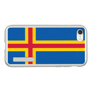 Flag of the Aland Islands Silver iPhone Case