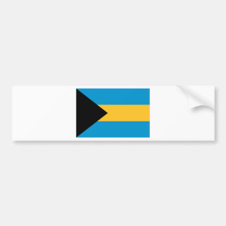 Flag of the Bahamas Bumper Sticker