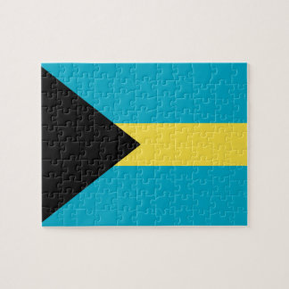 Flag Of The Bahamas Jigsaw Puzzle
