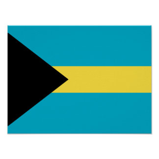 Flag Of The Bahamas Poster