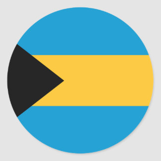 Flag of the Bahamas Round Sticker