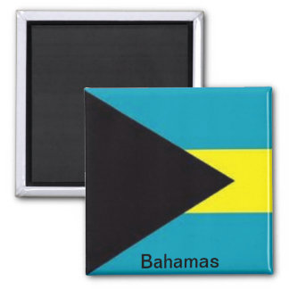 Flag of the Bahamas Square Magnet
