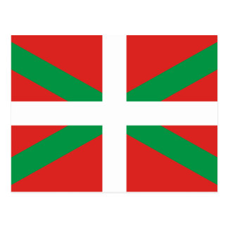 Flag of the Basque Country  Postcard