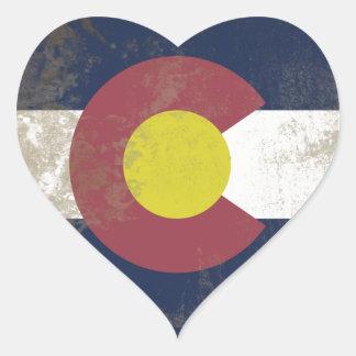 Flag of the Colorado Heart Sticker
