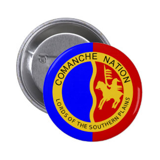 Flag of the Comanche Nation 2 Inch Round Button