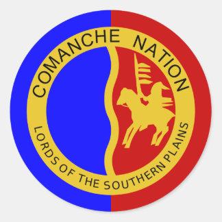 Flag of the Comanche Nation Classic Round Sticker