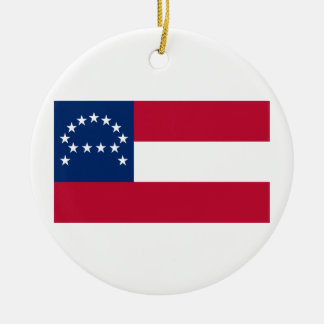 Flag of the Confederate Army of Northern Virginia Round Ceramic Ornament