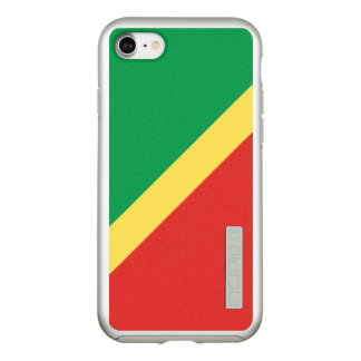 Flag of the Congo Republic Silver iPhone Case