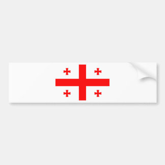 Flag Of The Country Of Georgia Bumper Sticker