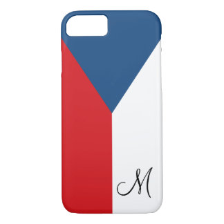 Flag of the Czech Republic Monogrammed iPhone 7 Case