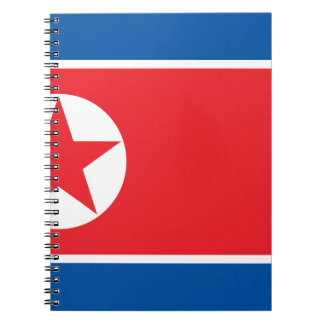 Flag of the Democratic People's Republic of Korea Spiral Note Book