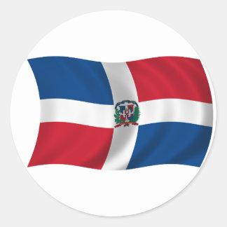 Flag of the Dominican Republic Classic Round Sticker