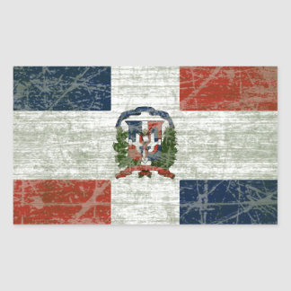 FLAG OF THE DOMINICAN REPUBLIC STICKER