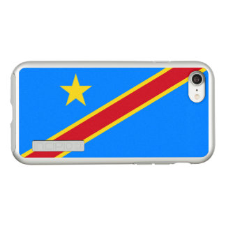Flag of the DR Congo Silver iPhone Case