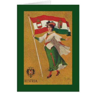 Flag of the Dual Monarchy (Austria-Hungary) Card
