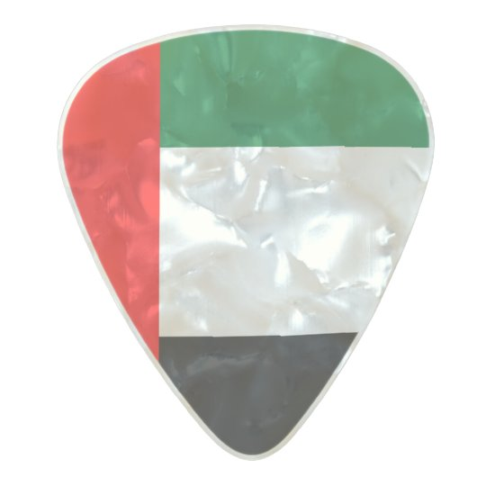 Flag of the Emirates Guitar Picks Pearl Celluloid Guitar Pick