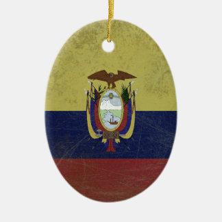 Flag of the equator ceramic oval ornament